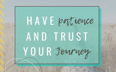 Have Patience and Trust Your Journey!