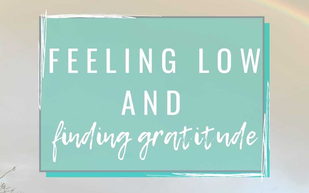 Feeling low and finding gratitude